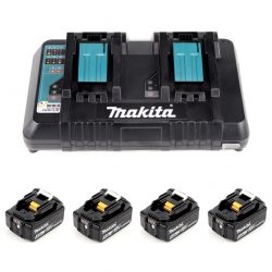 Toptopdeal Makita Power Source Kit Li 18V mit 4x BL1850B Akku 5 0Ah DC18RD Doppelladegerät 199483 0 1