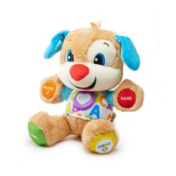 toptopdeal Fisher-Price FPM50 Stuffed Toy Puppies with Songs and Sets Growing Play Levels Baby Toy from 6 Months- German Language