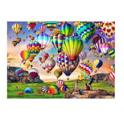 toptopdeal HUADADA Puzzle 1000 piece- puzzle for adults- impossible puzzle- skill game for the whole family- colourful hot air balloo- adult puzzle from 8 years