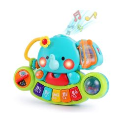 toptopdeal LUKAT Baby Music Toy for 6 9 12 18 Months Toddlers Elephant Music Toy with Light & Sound Musical Instruments Piano Keyboard Baby Toy for Children 1 2