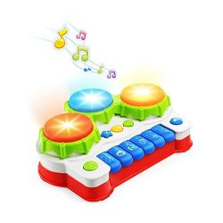 toptopdeal NextX Baby Toy Piano and Drum Music Toy with Lights Gift for Babies and Toddlers