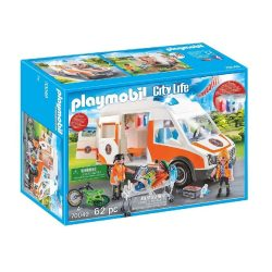toptopdeal Playmobil City Life 70049 Ambulance Rescue Vehicle with Light and Sound- for 4 Years and Above