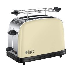Toptopdeal-de Russell Hobbs Colours+ Digital Coffee Machine Cream Programmable Timer, Toaster, cream