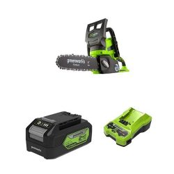 toptopdeal Greenworks G24CS25 Cordless Chainsaw